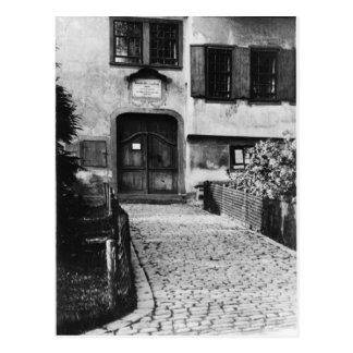 Entrada a la casa de Johann Sebastian Bach Postal