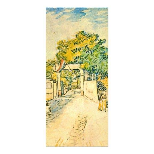 Entrada al Moulin de la Galette de Van Gogh Diseños De Tarjetas Publicitarias