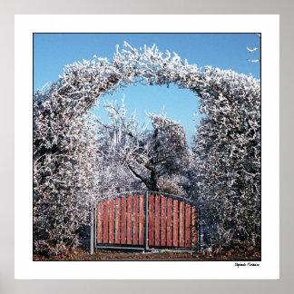 Entrada al país de las maravillas del invierno póster
