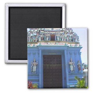 Entrada al templo hindú imán cuadrado