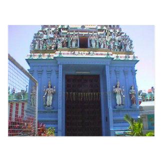Entrada del templo hindú, la poca India Postal