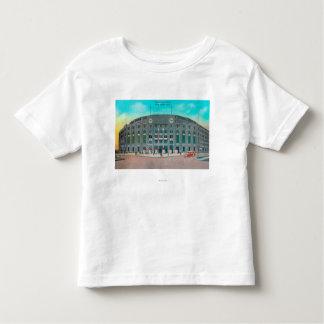 Entrada delantera a la opinión del Yankee Stadium Camiseta De Bebé