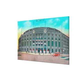Entrada delantera a la opinión del Yankee Stadium Impresiones En Lona Estiradas