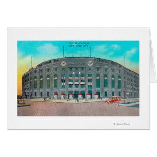 Entrada delantera a la opinión del Yankee Stadium Tarjeta De Felicitación