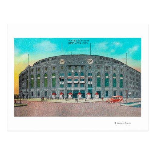 Entrada delantera a la opinión del Yankee Stadium Postales
