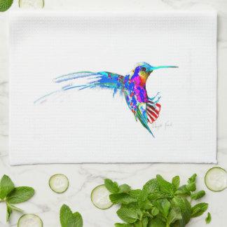 """Entrante!"" Impresión del colibrí Paño De Cocina"