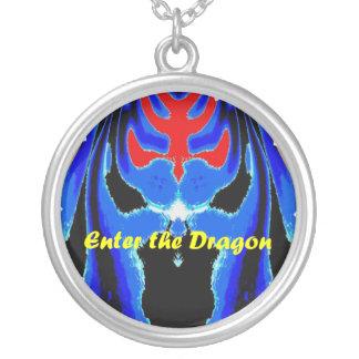 Entre en el dragón azul colgante redondo