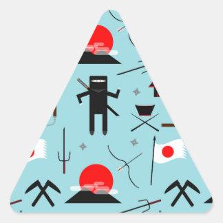 Entre en el Ninja Pegatina Triangular