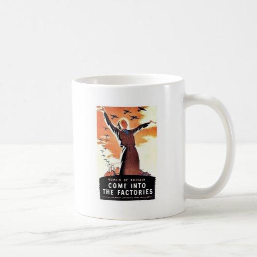 Entre en las fábricas tazas de café