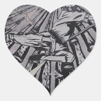 Entre real y surrealista por Carretero L. Shepard Pegatina En Forma De Corazón