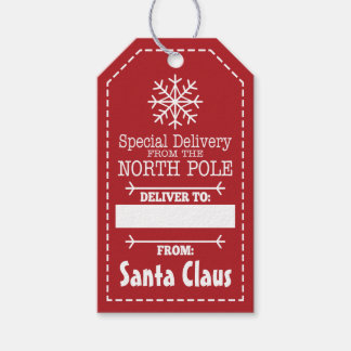 Entrega especial del Polo Norte y de Papá Noel Etiquetas Para Regalos