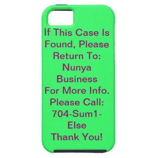 Éntreme en contacto con no caso iPhone 5 cárcasas