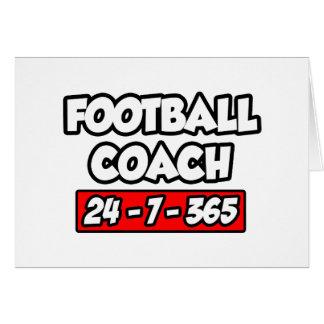 Entrenador de fútbol 24-7-365 felicitación