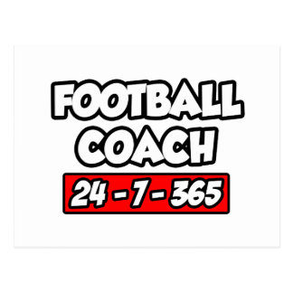 Entrenador de fútbol 24-7-365 postal