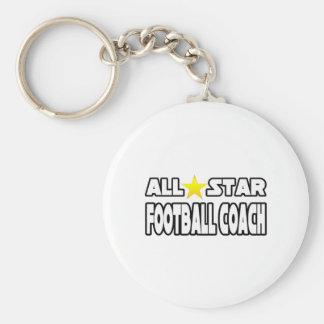 Entrenador de fútbol de All Star Llavero Personalizado
