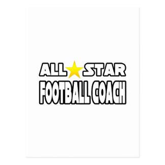 Entrenador de fútbol de All Star Tarjetas Postales