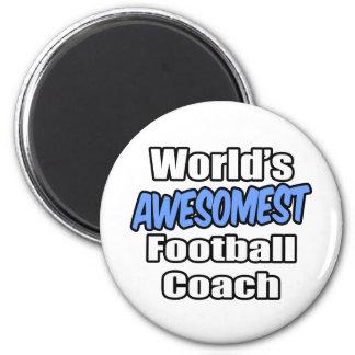 Entrenador de fútbol de Awesomest del mundo Imán De Nevera