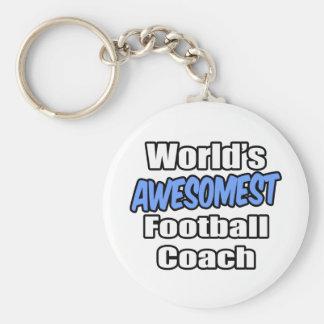 Entrenador de fútbol de Awesomest del mundo Llavero