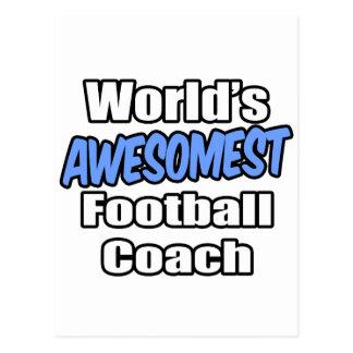 Entrenador de fútbol de Awesomest del mundo Postal