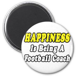 Entrenador de fútbol de la felicidad… iman de frigorífico