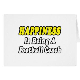Entrenador de fútbol de la felicidad… tarjetas