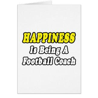 Entrenador de fútbol de la felicidad… tarjeton