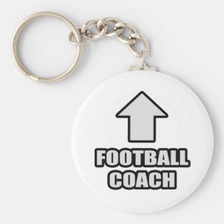 Entrenador de fútbol de la flecha llavero