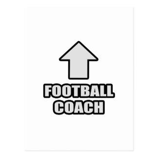 Entrenador de fútbol de la flecha tarjeta postal