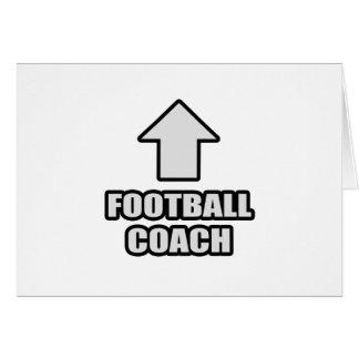 Entrenador de fútbol de la flecha tarjetas