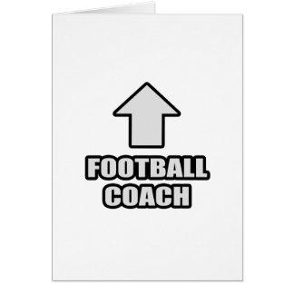 Entrenador de fútbol de la flecha tarjetón