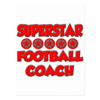 Entrenador de fútbol de la superestrella postales