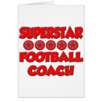 Entrenador de fútbol de la superestrella felicitacion