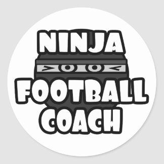 Entrenador de fútbol de Ninja Etiquetas Redondas