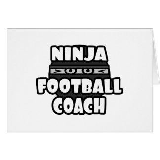 Entrenador de fútbol de Ninja Felicitaciones
