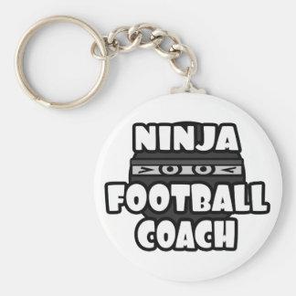 Entrenador de fútbol de Ninja Llavero Redondo Tipo Chapa