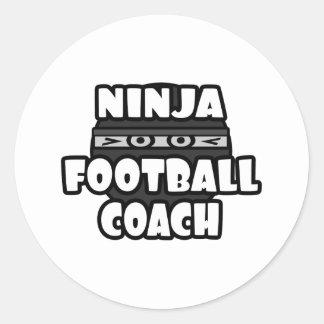 Entrenador de fútbol de Ninja Pegatina Redonda