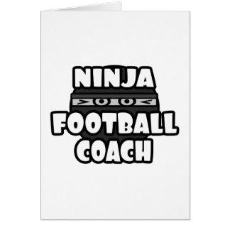 Entrenador de fútbol de Ninja Tarjeta De Felicitación