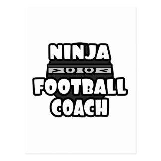 Entrenador de fútbol de Ninja Tarjetas Postales