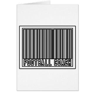 Entrenador de fútbol del código de barras tarjeton