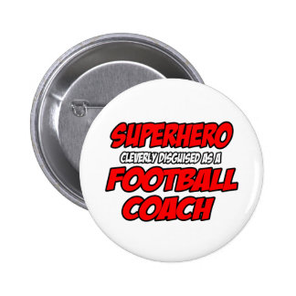 Entrenador de fútbol del super héroe… pins