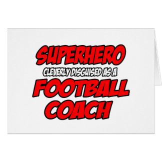 Entrenador de fútbol del super héroe… felicitaciones