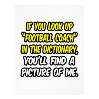 Entrenador de fútbol en diccionario… mi imagen folleto 21,6 x 28 cm