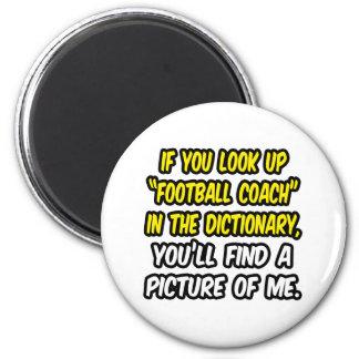 Entrenador de fútbol en diccionario… mi imagen imán de frigorífico