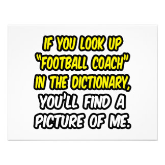 Entrenador de fútbol en diccionario… mi imagen comunicados personales
