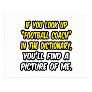 Entrenador de fútbol en diccionario… mi imagen postales