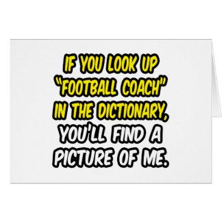 Entrenador de fútbol en diccionario… mi imagen tarjeton