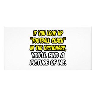 Entrenador de fútbol en diccionario… mi imagen tarjetas fotograficas