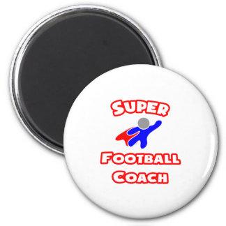 Entrenador de fútbol estupendo iman de frigorífico