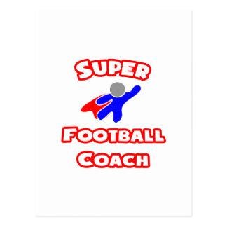 Entrenador de fútbol estupendo postal