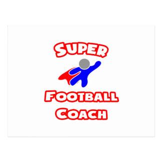 Entrenador de fútbol estupendo tarjeta postal